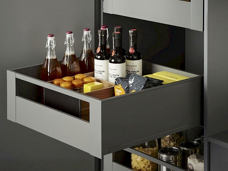 Kitchen storage solution - internal drawer tower
